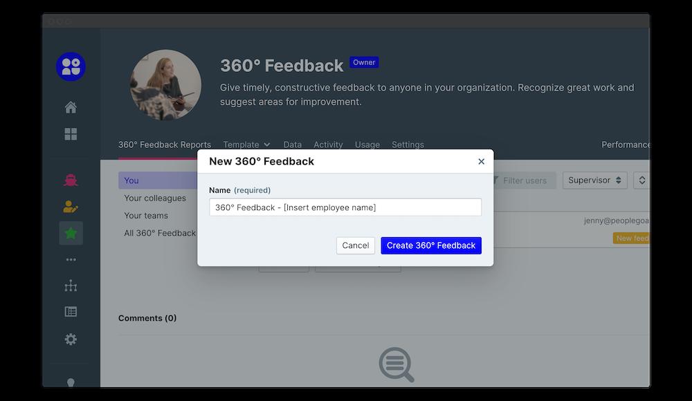 360 feedback launch