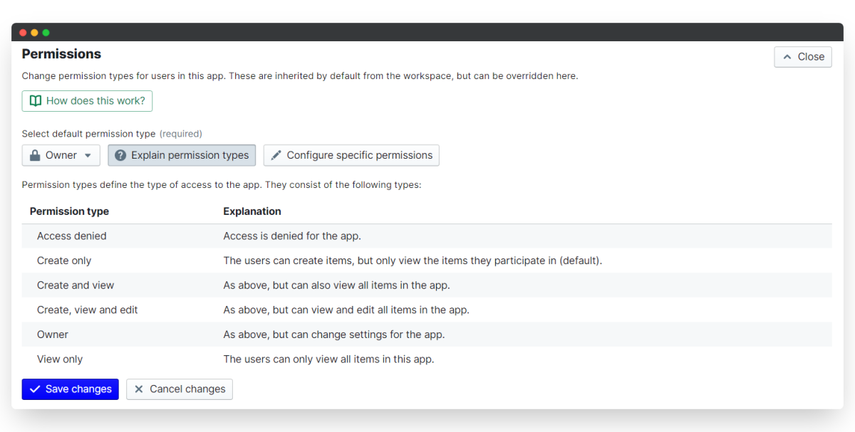 employee onboarding process - permission types