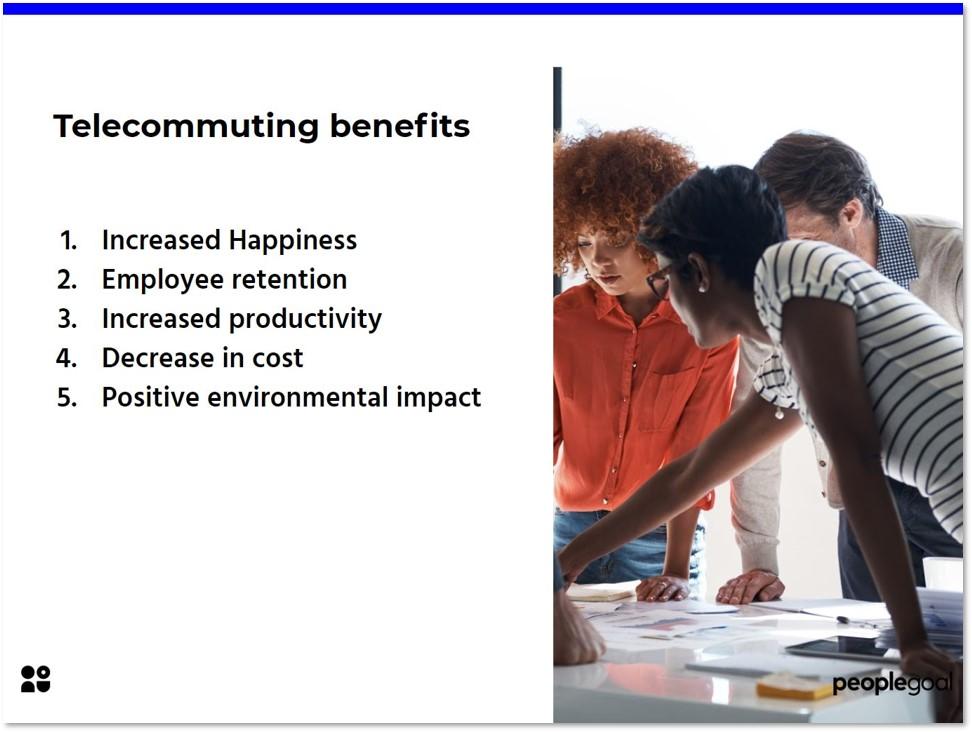 Telecommuting benefits