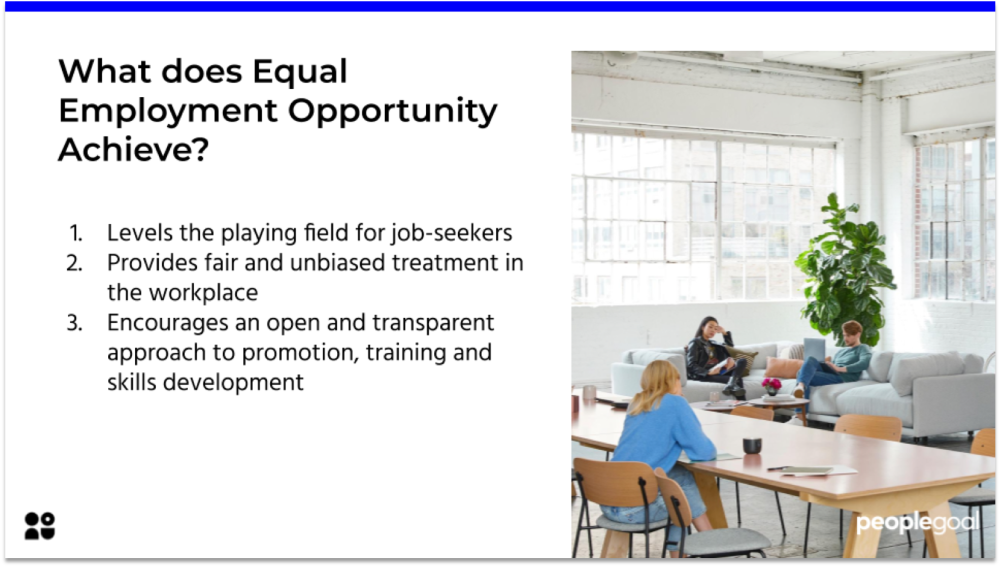 Equal Employment Opportunity Policy PeopleGoal