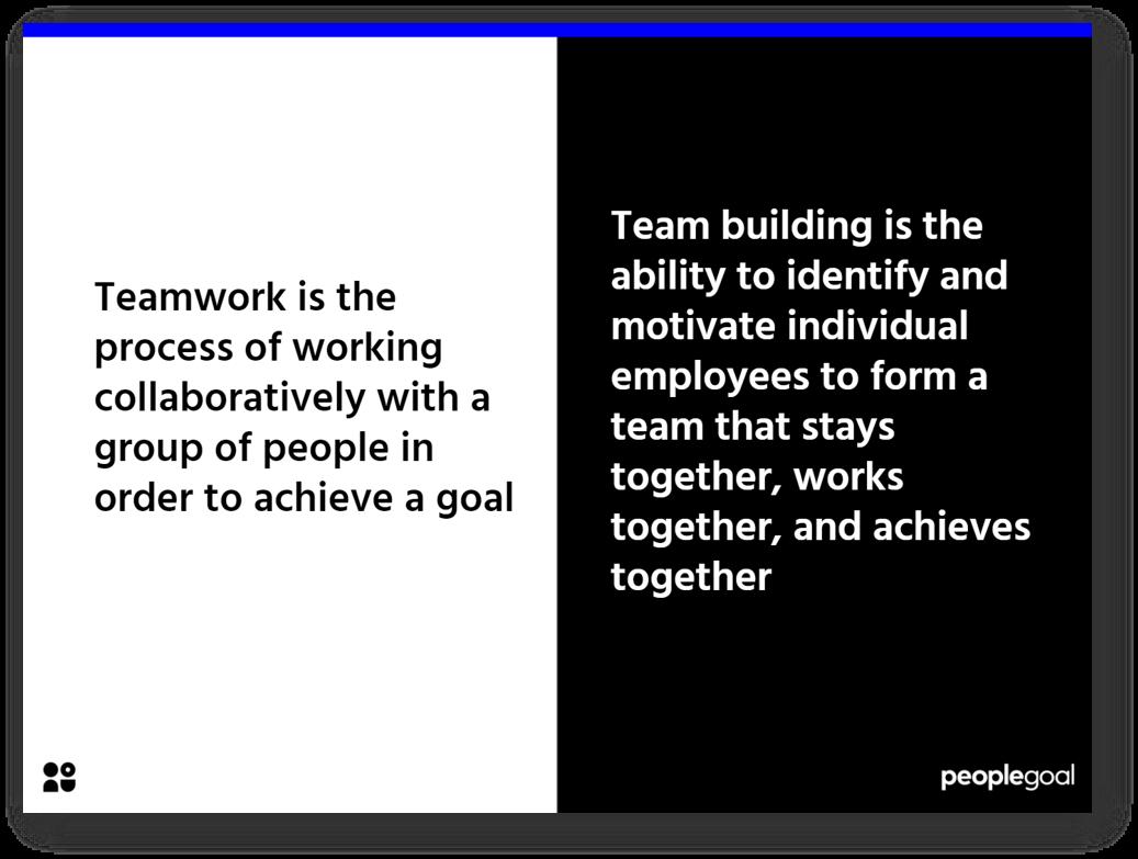 Teamwork vs Teambuilding