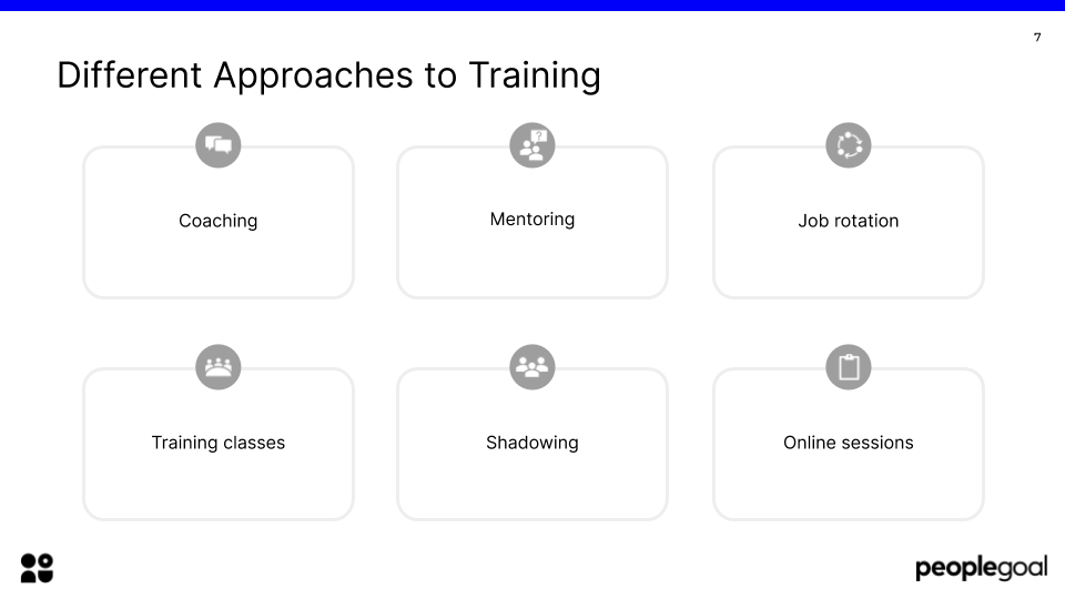different approaches to training effective employee development plan