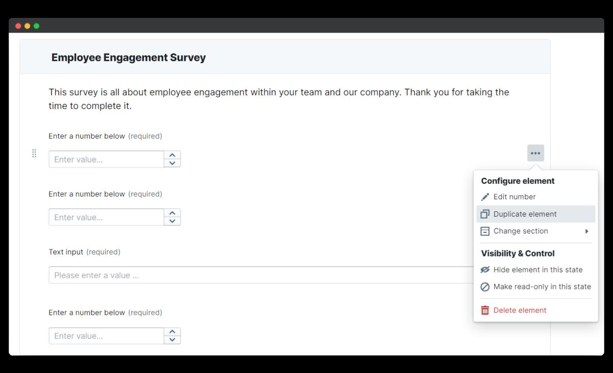 employee engagement survey - duplicate element