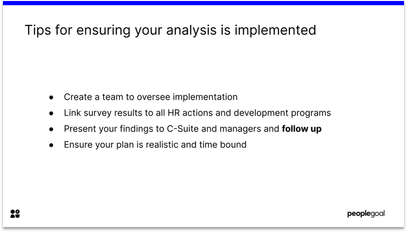 Implementing analysis employee surveys
