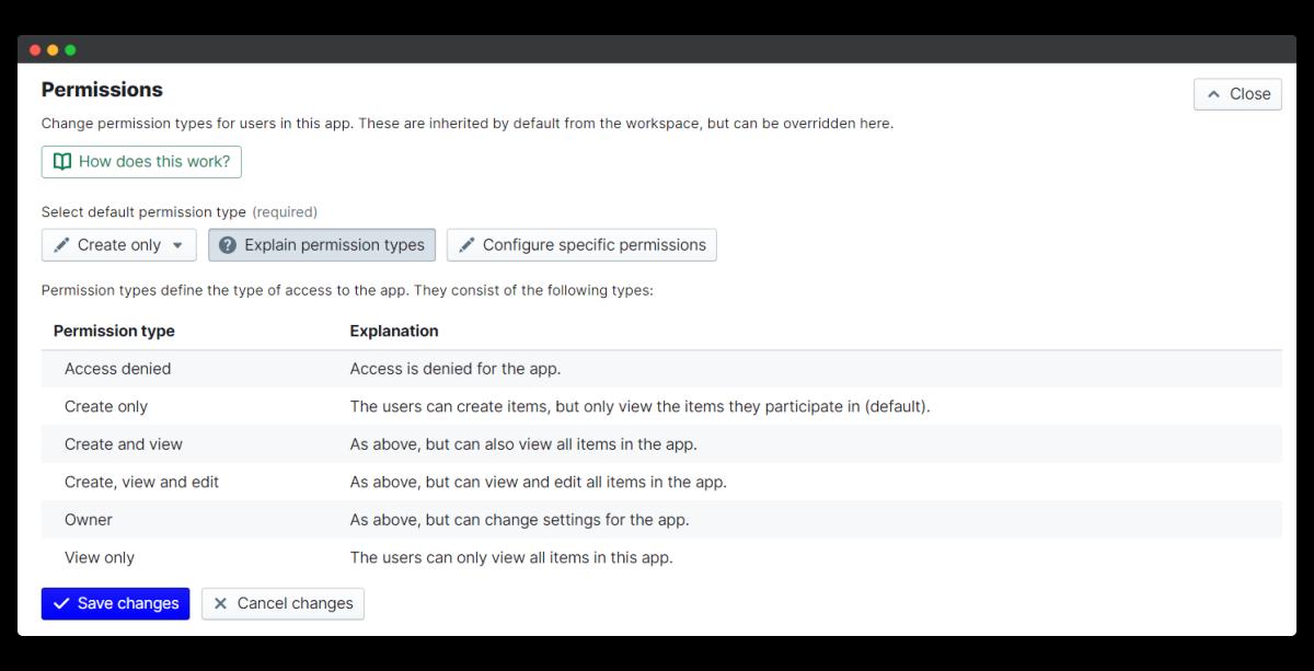360 feedback - permission types