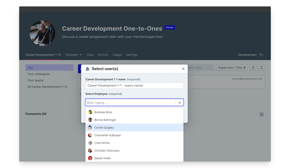 career development one to one launch