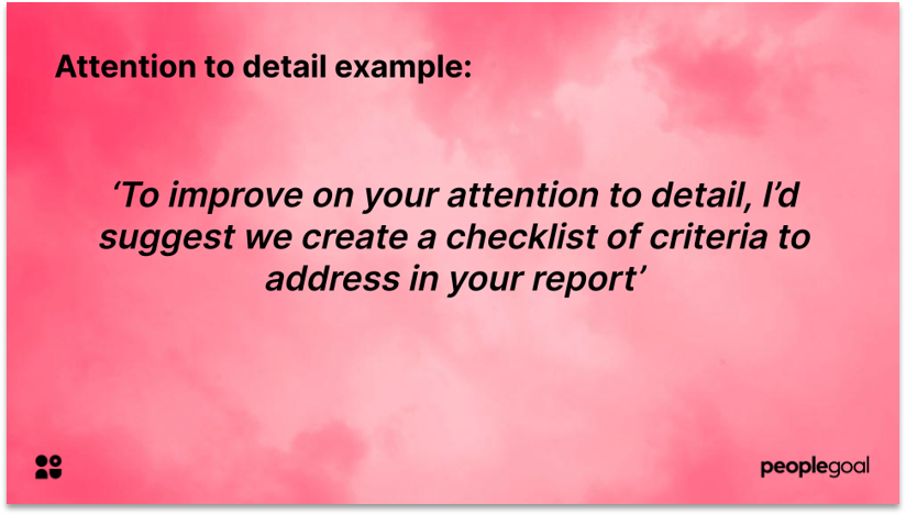 Constructive Feedback Example for Professional Development