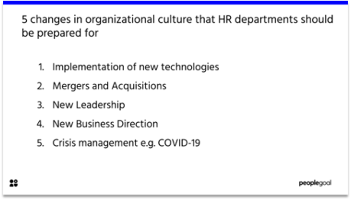 5 changes in organizational culture that HR departments should be prepared for