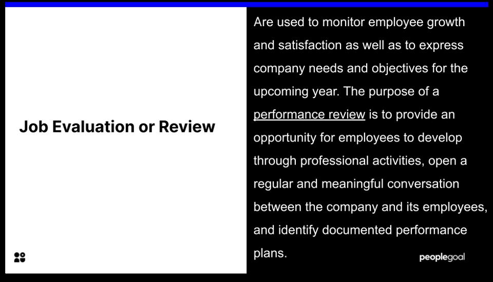 job evaluation review - disclaimer