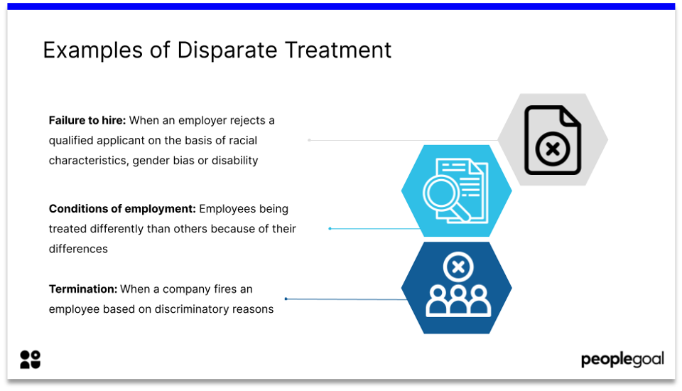 Examples of Disparate Treatment