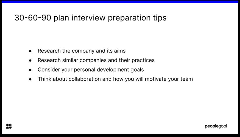 30-60-90 day plan interview