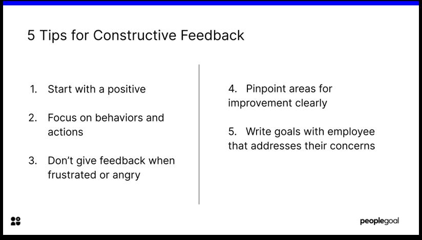 5 Tips for Constructive Feedback