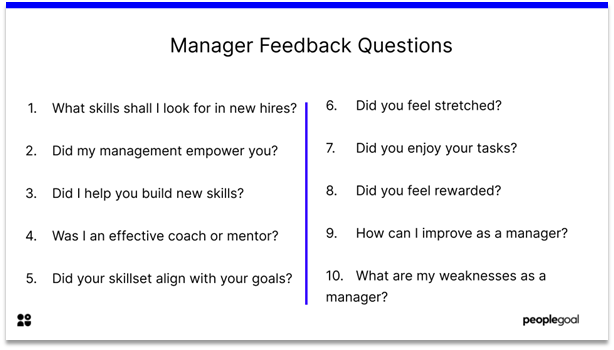 Feedback Questions - manager feedback questions
