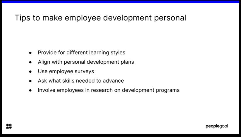 Employee Development plans make it personal