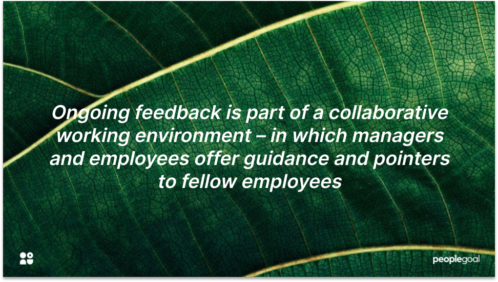 Ongoing Feedback for Collaborative culture
