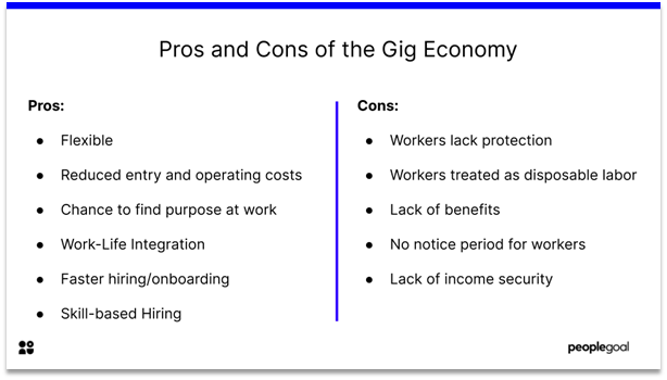 Gig Workers - pros and cons