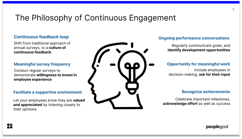 The philosophy of continuous engagement
