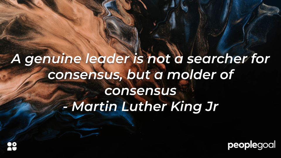 Qualities of a Leader - Martin Luther King Quote