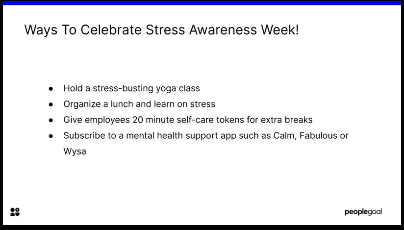 Ways to Celebrate Stress Awareness Week