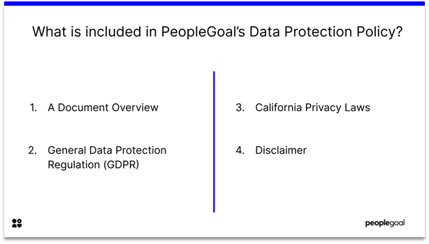 data protection policy - what is included