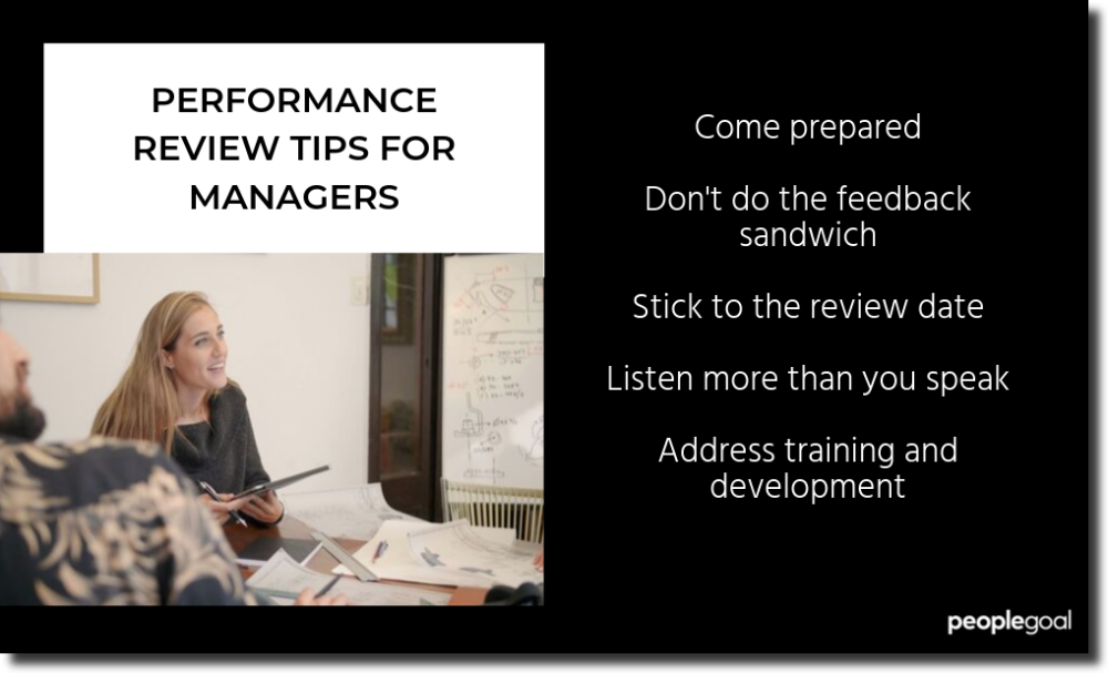 Performance review tips for managers