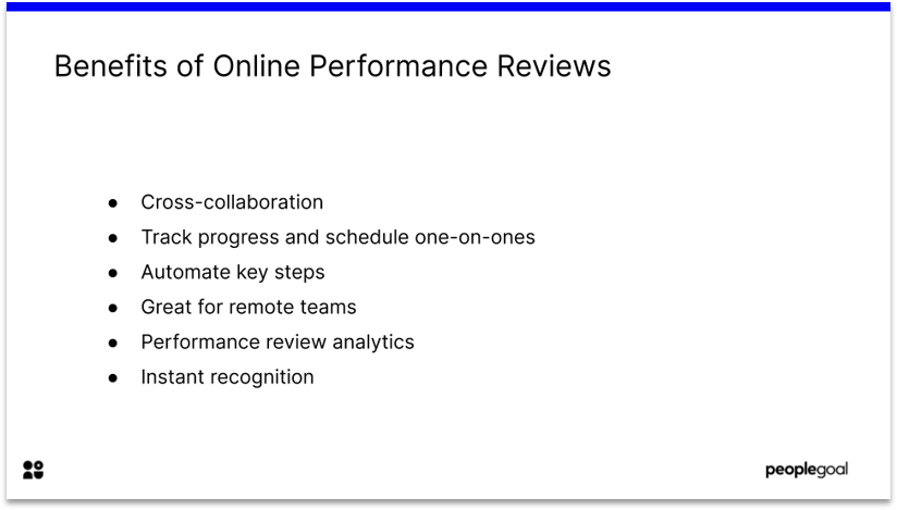 Online Performance Reviews for Improving Performance Review Completion Rates