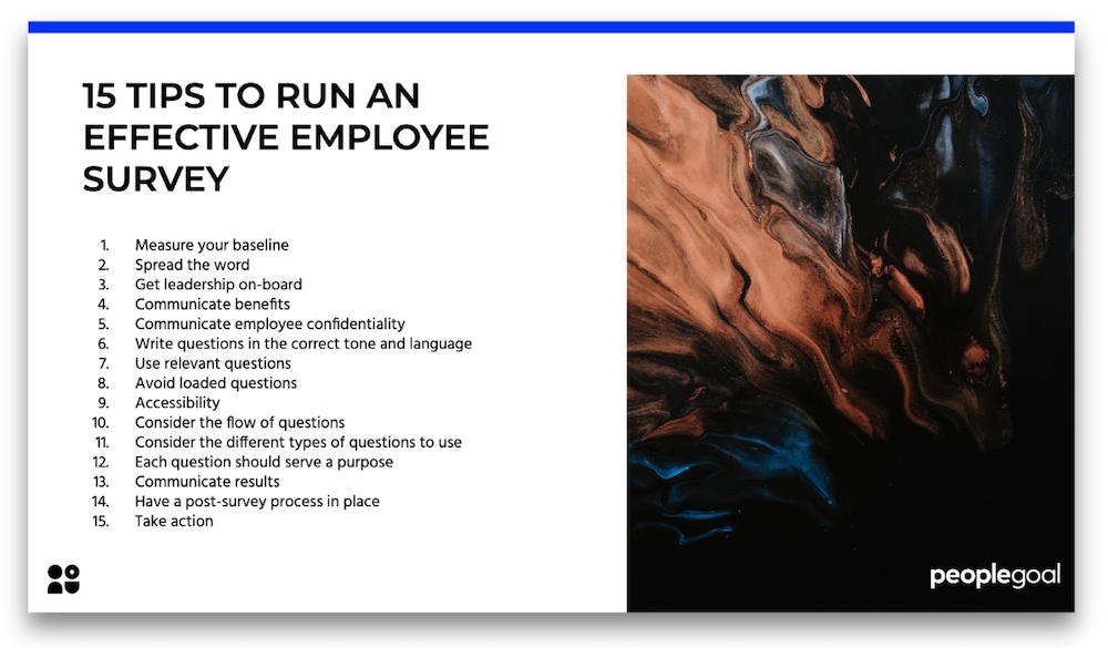 tips to run an effective employee survey
