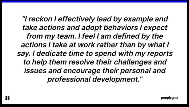 Self-Evaluation - Leadership