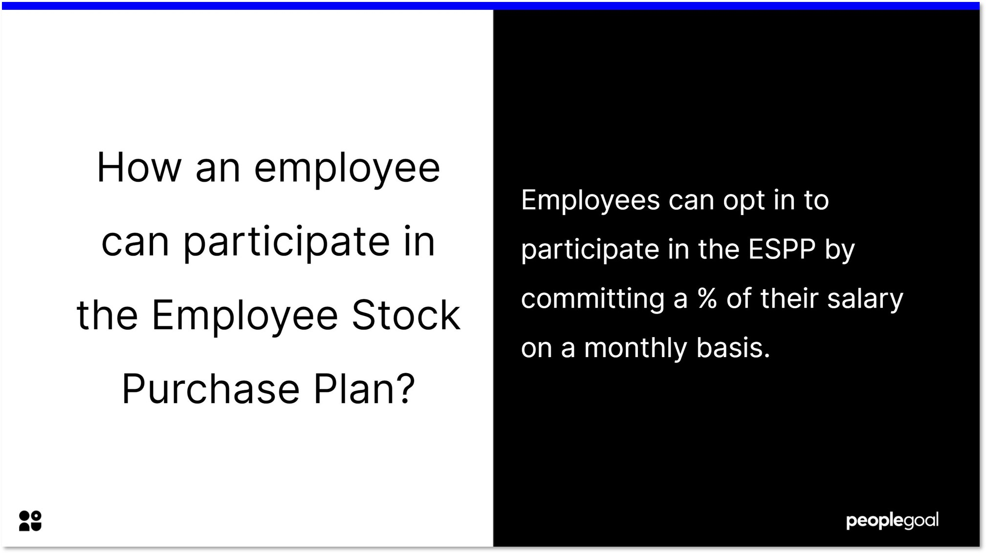 How an employee can participate in the employee stock purchase plan