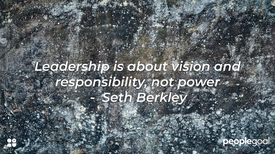 Qualities of a leader - Set Berkley Quote