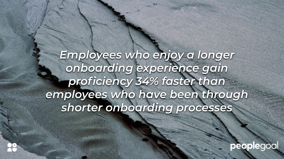 statistic on long onboarding for better success rate