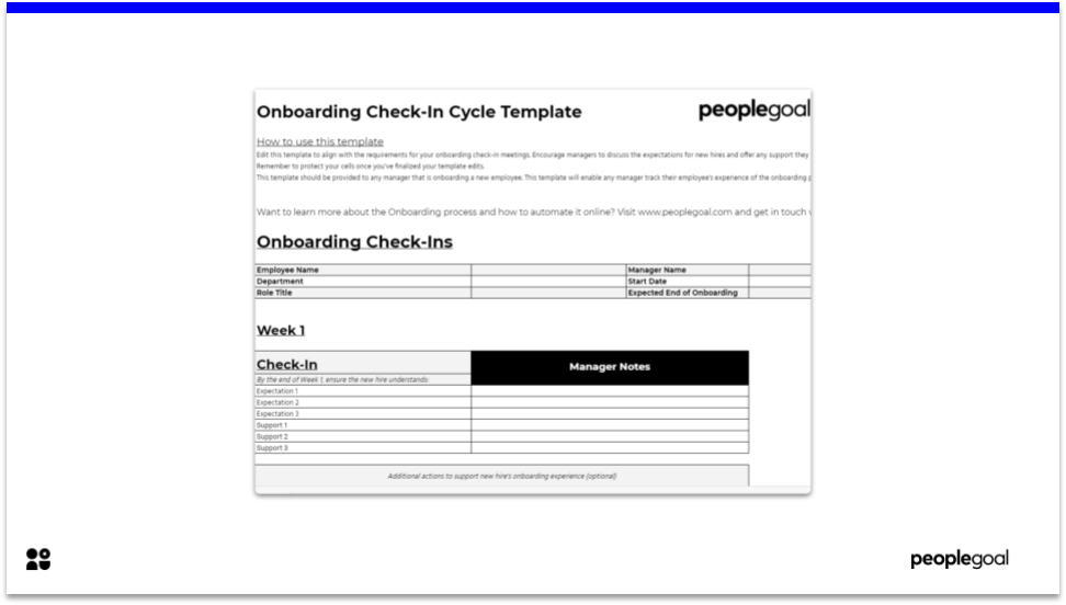 Onboarding Check-In Cycle Template