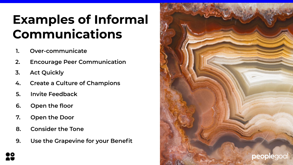 examples of informal communications
