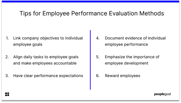 Employee Evaluation Methods - tips for employee evaluation methods