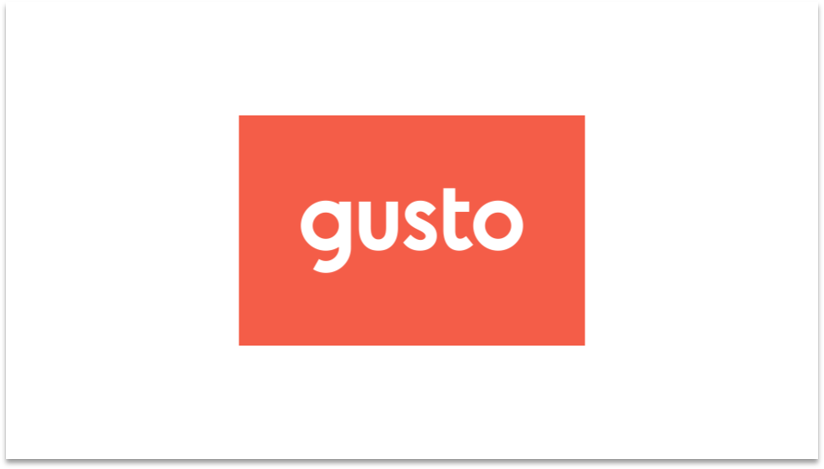 Gusto Logo payroll provider