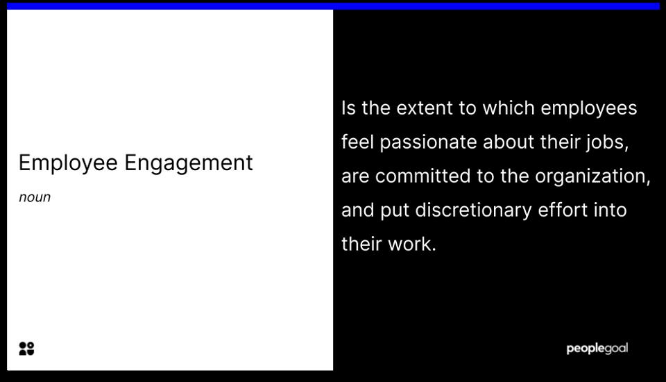 employee engagement. - definiton