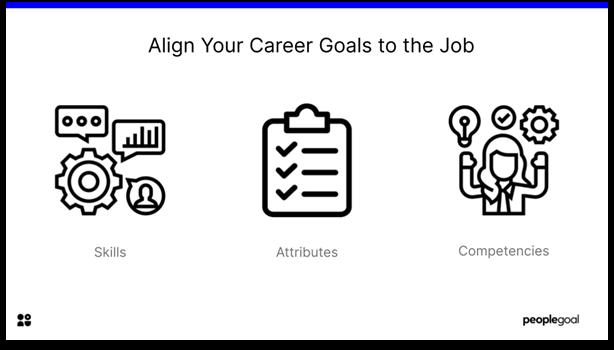 career goals- align career goals with job