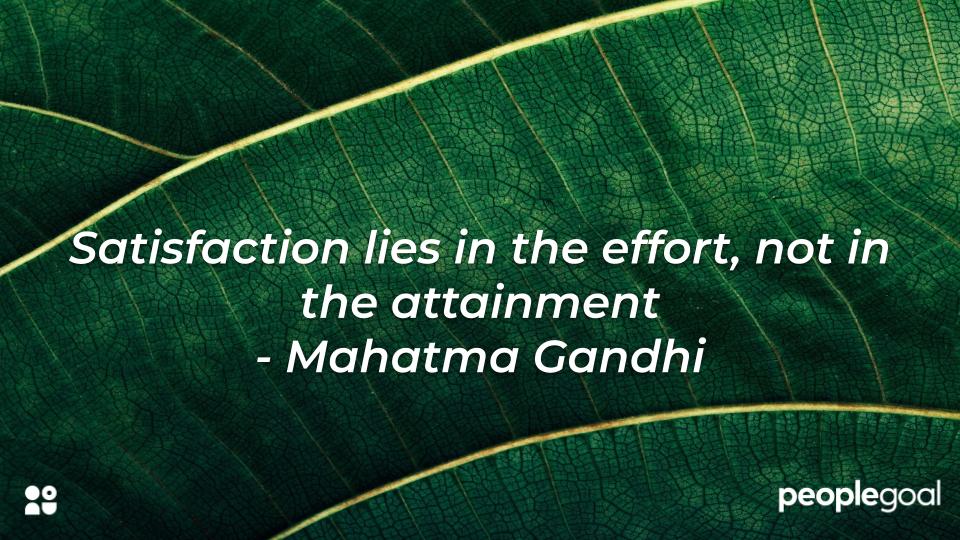 Mahatma Gandhi satisfaction hard work quote