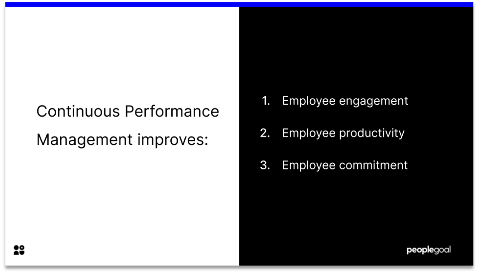 benefits of continuous performance management software