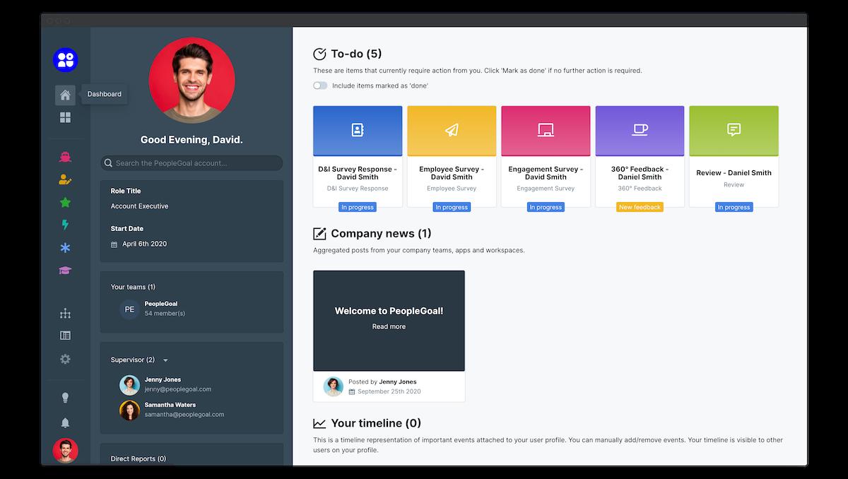 peoplegoal user guide dashboard