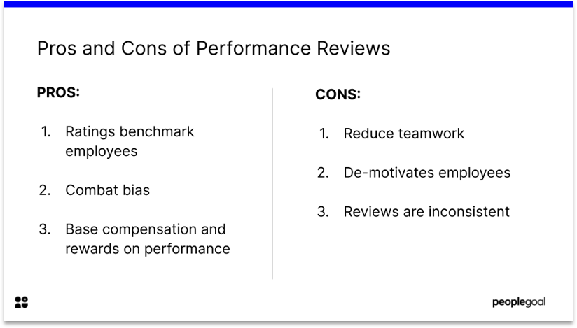 pros and cons of Performance Reviews