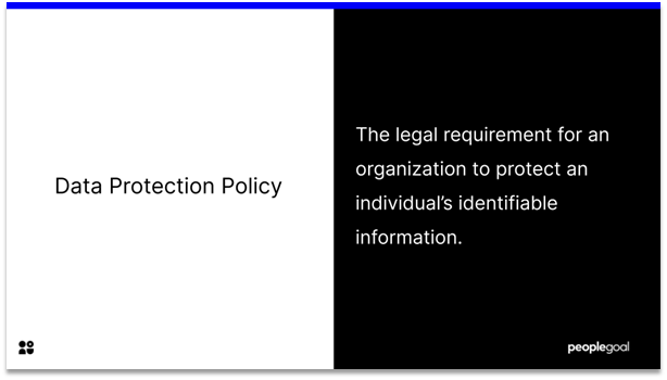 data protection policy - definition
