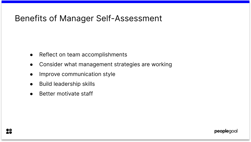 Benefits of Manager Self Assessment