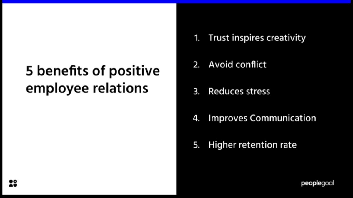 5 Benefits of positive employee relations