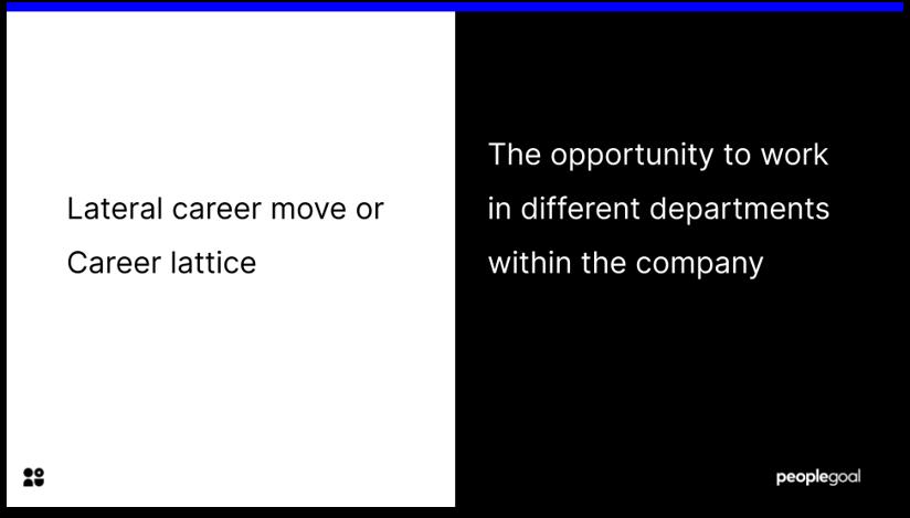 Career Lattice Definition Career steps
