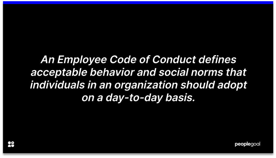 employee code of conduct definition