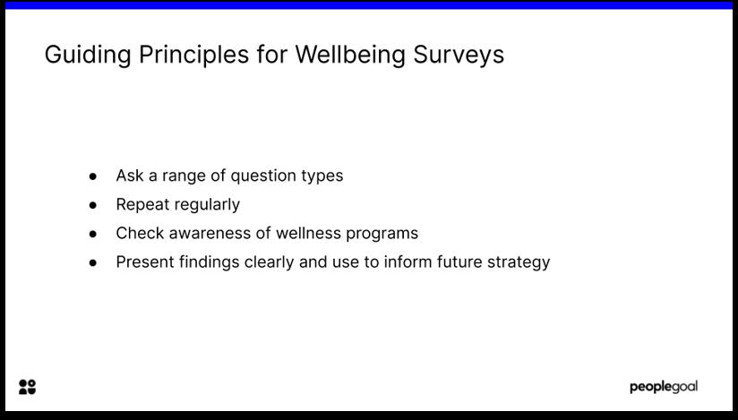 Employee wellbeing surveys tips