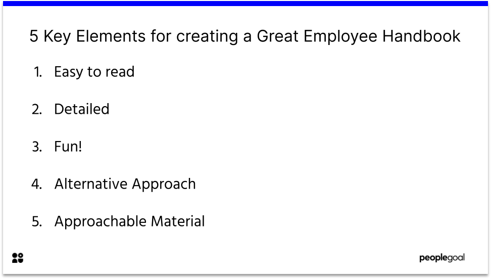 5 Key Elements for creating a Great Employee Handbook