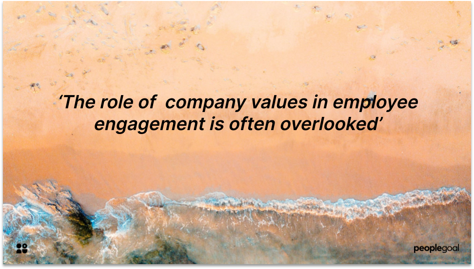 Role of Company Values in Employee Engagement