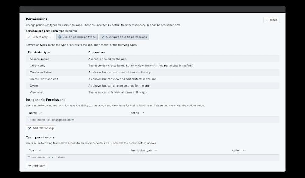 360 feedback explain permissions